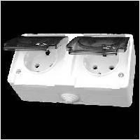 Розетка с крышкой +розетка с крышкой Gunsan NEMLIYER белый, фото 1