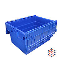 Пластиковый контейнер с крышкой - SPKM320,   400x600x320 мм