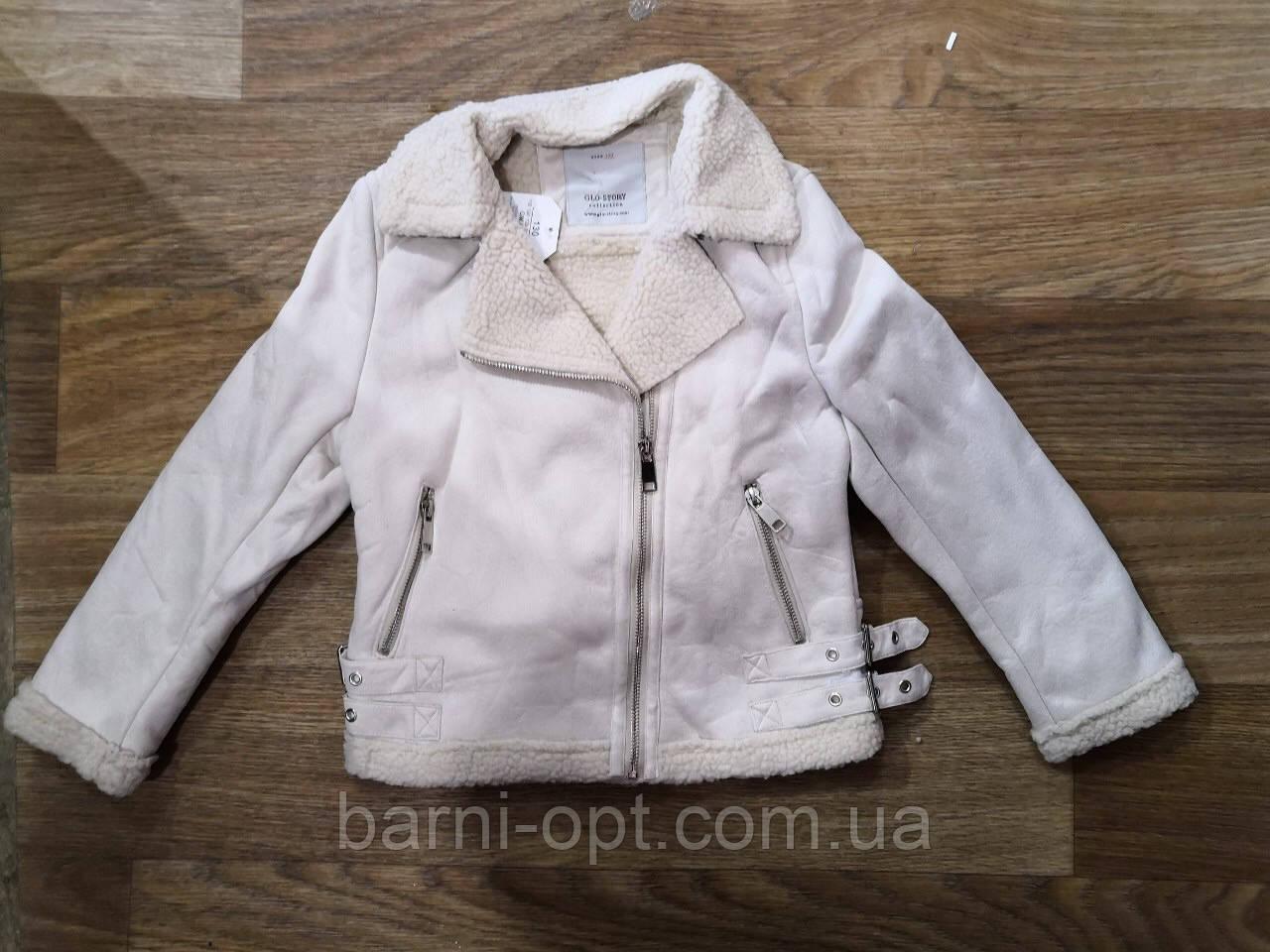 Куртка на меху для девочек оптом, Glo-story,  110-160 рр