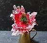 Цветок пуансетии -шотландки с декором
