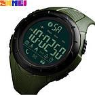 • Оригинал! Skmei(Скмей) 1326 Green  | Cпортивные мужские часы !, фото 2