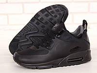 Мужские зимние термо кроссовки Nike Air Max 90 Mid Winter Black