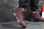 Зимние ботинки Nike Huarache (бордовые) ЗИМА, фото 2