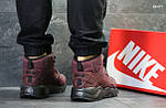 Зимние ботинки Nike Huarache (бордовые) ЗИМА, фото 5