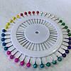 Набор портновских булавок с бусинками на круглом органайзере, 40 шт