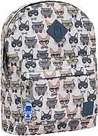 Рюкзак городской молодежный Bagland сублимация коты в очках 17 л.