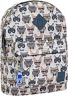 Рюкзак женский городской молодежный Bagland для девушки коты в очках 17 л.