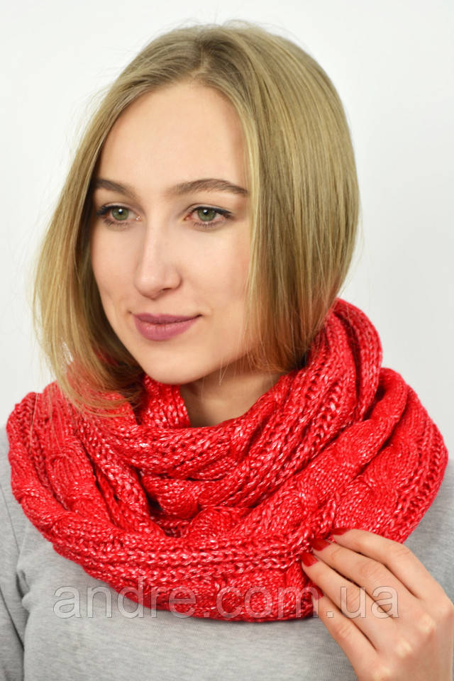 d4c82ebb839d Большие шарфы снуды Бонжур, красный
