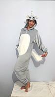 Пижама  вельсофт  Кигуруми единорог рост  158  170