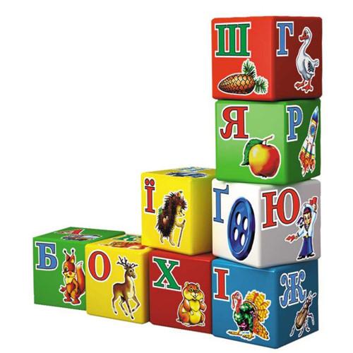 Іграшка кубики Абетка Веселка ТехноК (укр.)