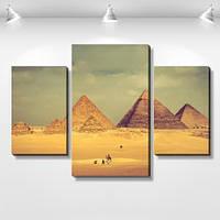 Модульная картина, холст, Египет, Рим, 60x90см.  (40x25-2/60x35)