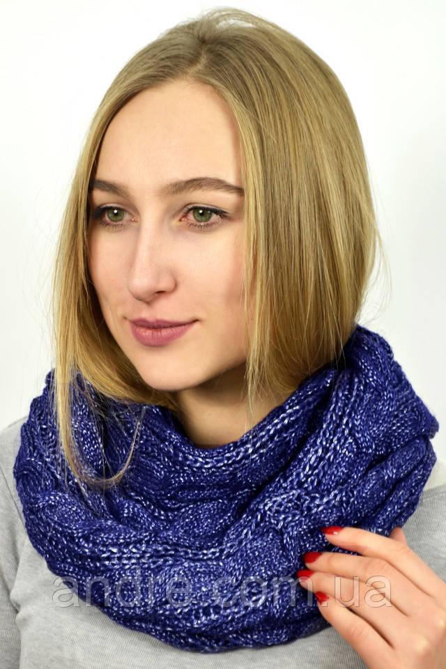 e43d6df4a9d5 Большие шарфы снуды Бонжур, синий - Bigl.ua