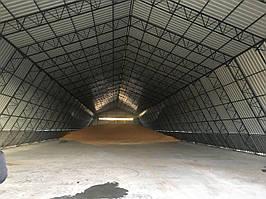 Будівництво ангарів.зерносховищ