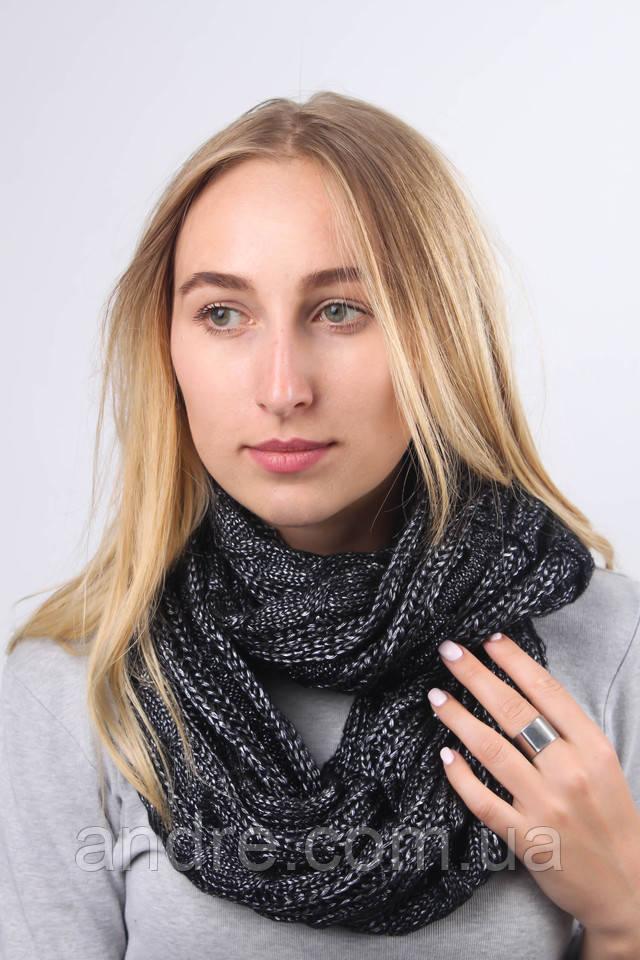 dc94f24acb02 Большие шарфы снуды Бонжур, графит - Bigl.ua