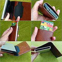 Кредитница картхолдер визитница карточница карманная, кожа PU