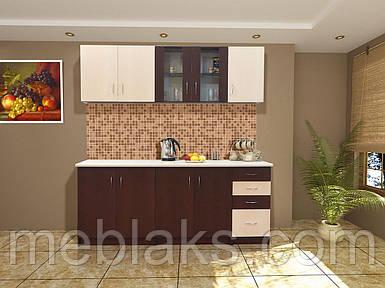 Кухня «Венера» базовая Венге светлый/темный Мир Мебели