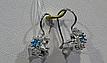 Серебряные серьги с французской застежкой, фото 2