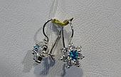 Серебряные серьги с французской застежкой