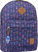 Рюкзак городской молодежный Bagland сублимация фиолетовый кактусы 17 л.
