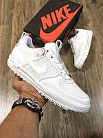 Кроссовки мужские Nike Lunar Force белые (ТОП реплика), фото 1