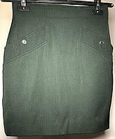 """Юбка короткая с карманами на подкладке темно-зеленого цвета """"MaxMara"""" (Италия)"""