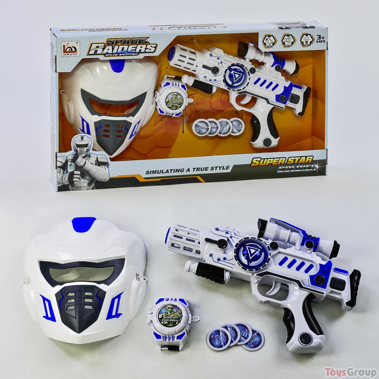 Пистолет Звездные войны LM 888-3 AY (24) с маской, в коробке