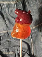 Оригинальный леденец на палочке свинка Пеппа, подарок ребенку на рождество