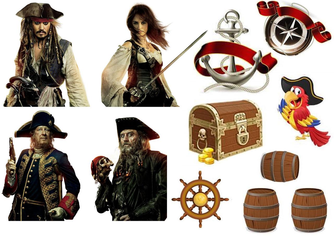 Цукрова картинка Пірати, для торта