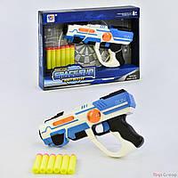 Пистолет с мягкими патронами 923 (60) музыкальные и световые эффекты, проекция, в коробке