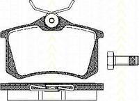 Колодки тормозные задние Пежо 307,Ситроен С4 PEUGEOT 307