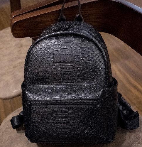 8203ec565613 Купить Рюкзак женский кожзама Snake print Чёрный недорого в интернет ...