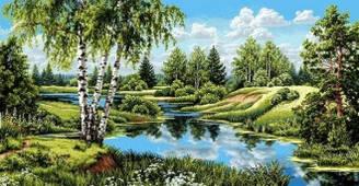 "Гобеленовая картина""Летний пейзаж"""