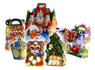 Новогодние подарочные коробки для конфет