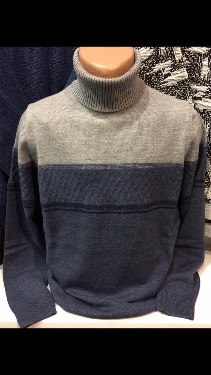 553ba1ec6e98 Тёплые турецкие полушерстяные мужские свитера с отворотом гольфы водолазки