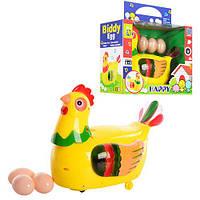 Курица 20215 (36шт) несет яица, муз, на бат-ке, в кор-ке, 23-18-12см