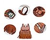 Рюкзак женский кожзам с бахромой Cowboys Backpacks Светло коричневый, фото 7