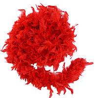 Боа из перьев, красное 80 г.