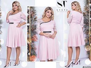 Трендовое коктейльное платье миди длины 48 50 52