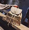 Рюкзак женский кожзам с бахромой Cowboys Backpacks Хаки, фото 4