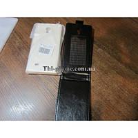 Flip Case. THL W100 Black Черный Белый Флип чехол откидывающийся вниз