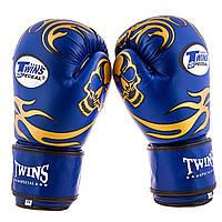 Перчатки боксерские Twins PVC синие TW-B