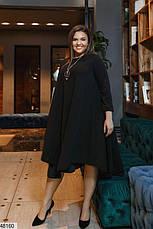 Ошатне жіноче плаття чорного кольору розміри: 50-52,54-56.58-60,62-64, фото 3