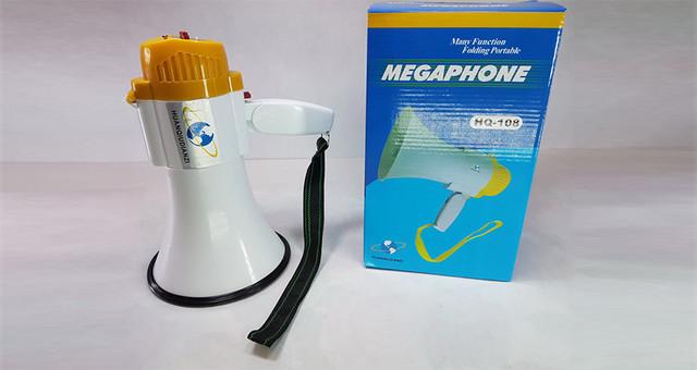Ручной мегафон рупор HQ-108 дальность 200м