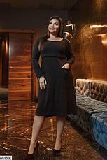 Платье женское демисезонное теплое черное размеры: 50-62, фото 2