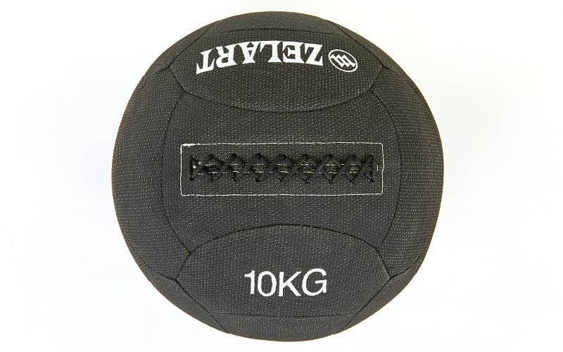 Мяч медицинский (волбол) в кевларовой оболочке WALL BALL 10кг (наполнитель-метал. гранулы, диаметр 35см)