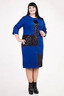 Дизайнерское батальное платье весна-осень из замши размеры 54,56,58,60