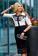 Модная  офисная блуза 44р