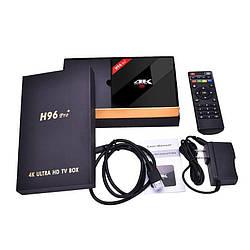 Смарт ТВ приставка H96 Pro +, черная (5033)