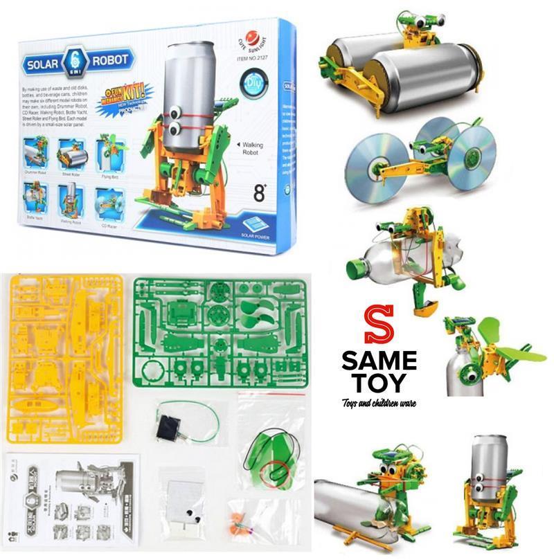 Робот-конструктор Same Toy Экобот 6 в 1 на солнечной  батарее