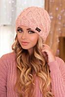 Зимняя женская шапка из шерсти альпаки.
